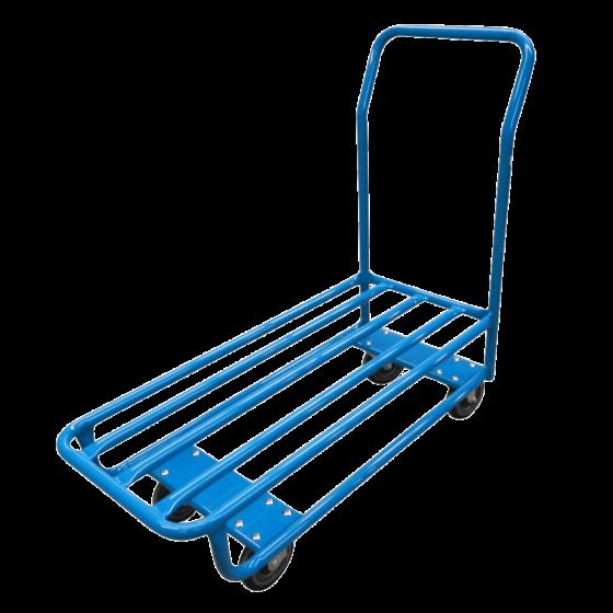 Single shelf tube cart