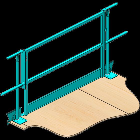 Handrail pipe gate