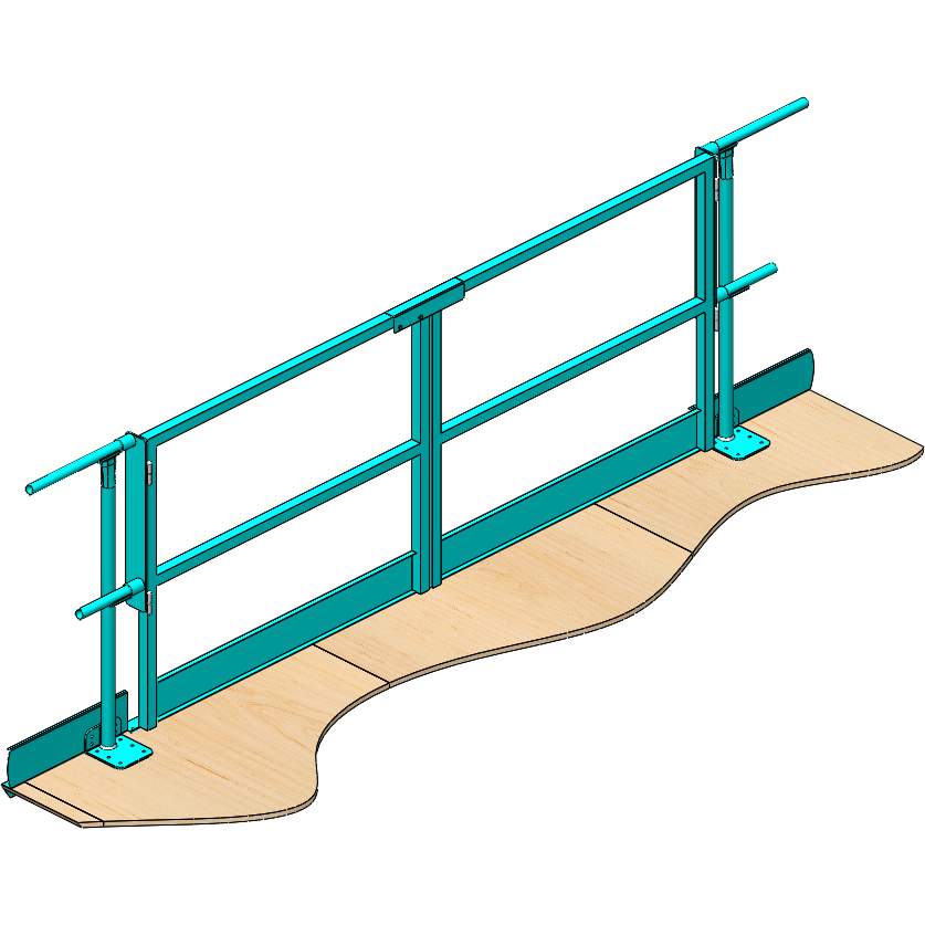 Handrail pipe gate