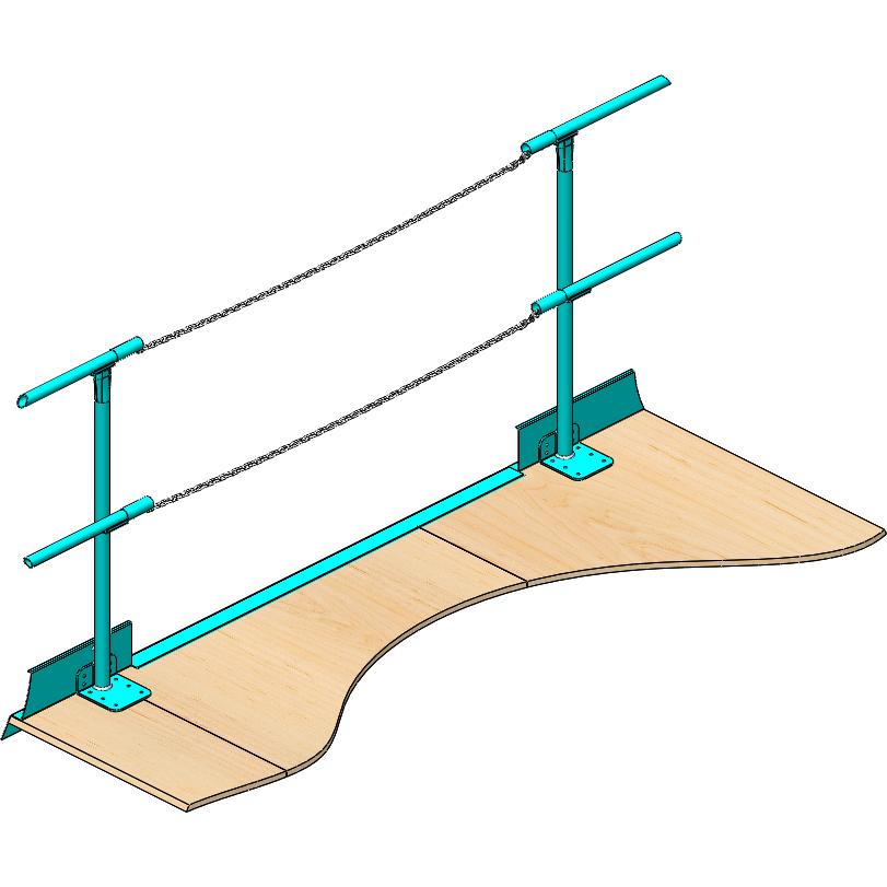 Handrail chain gate