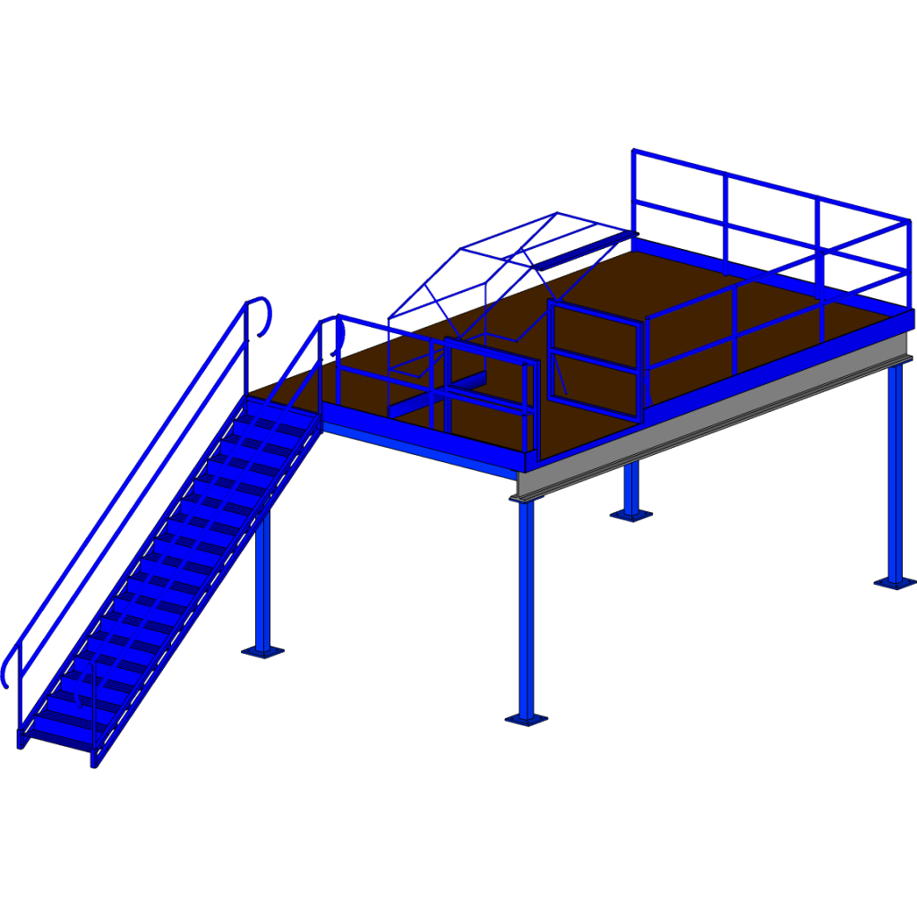 Structural mezzanine rendering