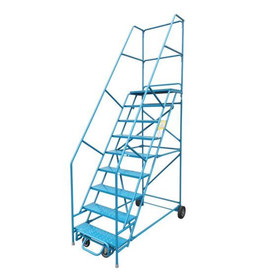 9 step rolling ladder