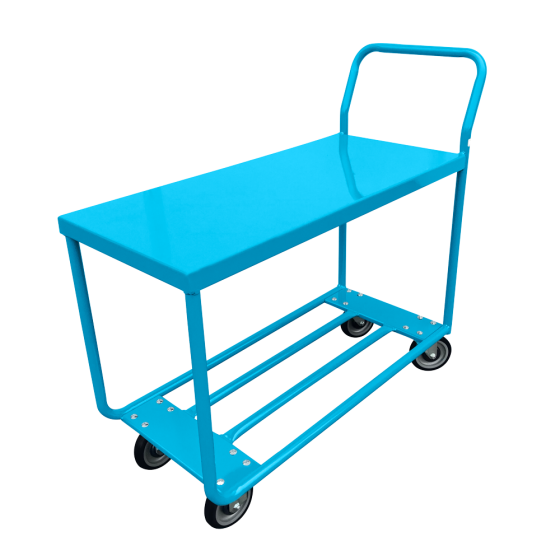 Tube frame stock cart with solid top